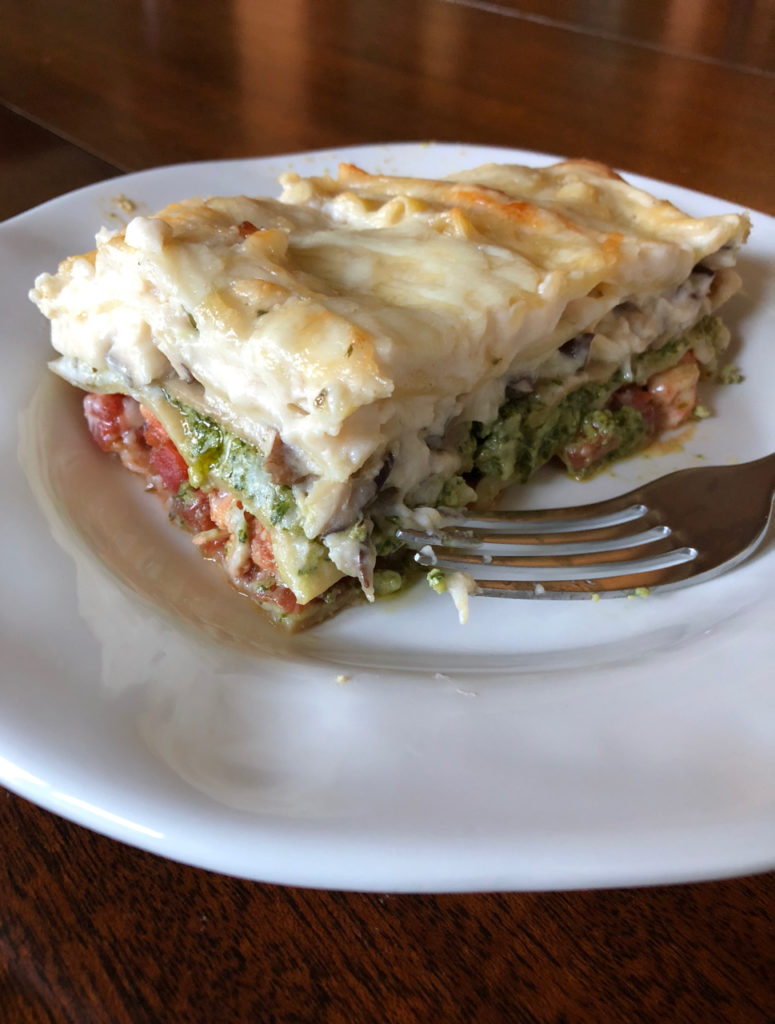 Mushroom Lasagne - One Day Woman
