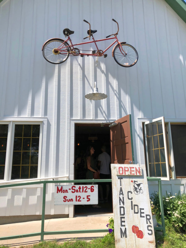Entrance to Tandem Ciders Tasting Room - One Day Woman