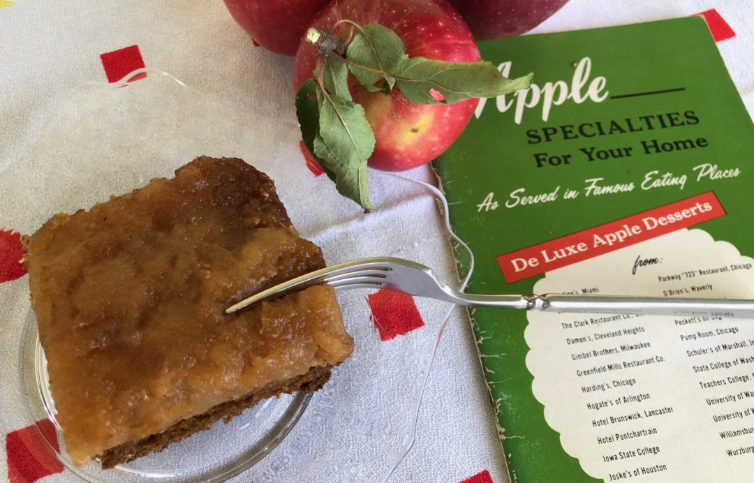Applesauce Molasses Upside-Down Cake - One Day Woman