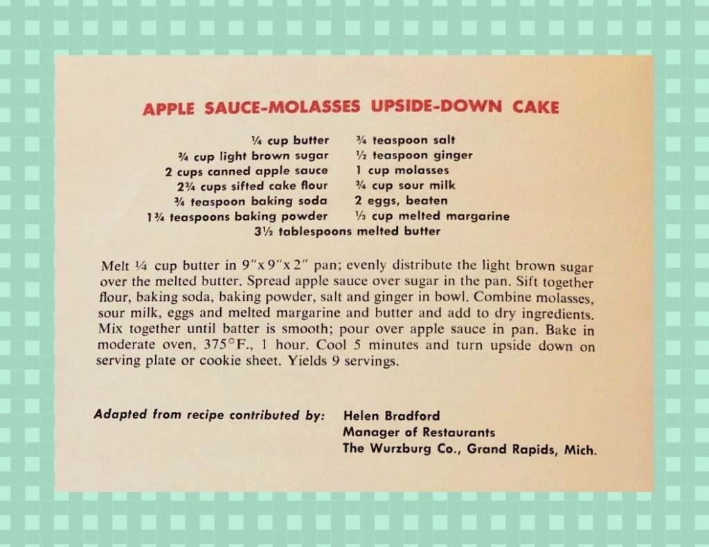 Applesauce Molasses Upside-Down Cake Recipe - Woman Day Woman