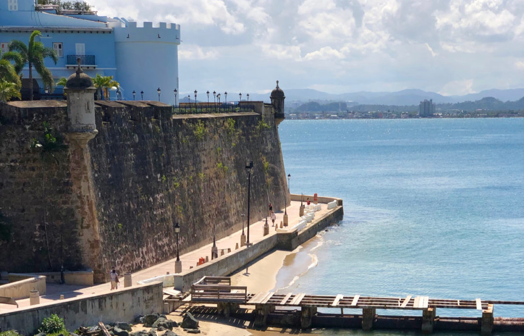 A picture of the Bahia de San Juan, Old City Wall, and La Fortaleza in Old San Juan