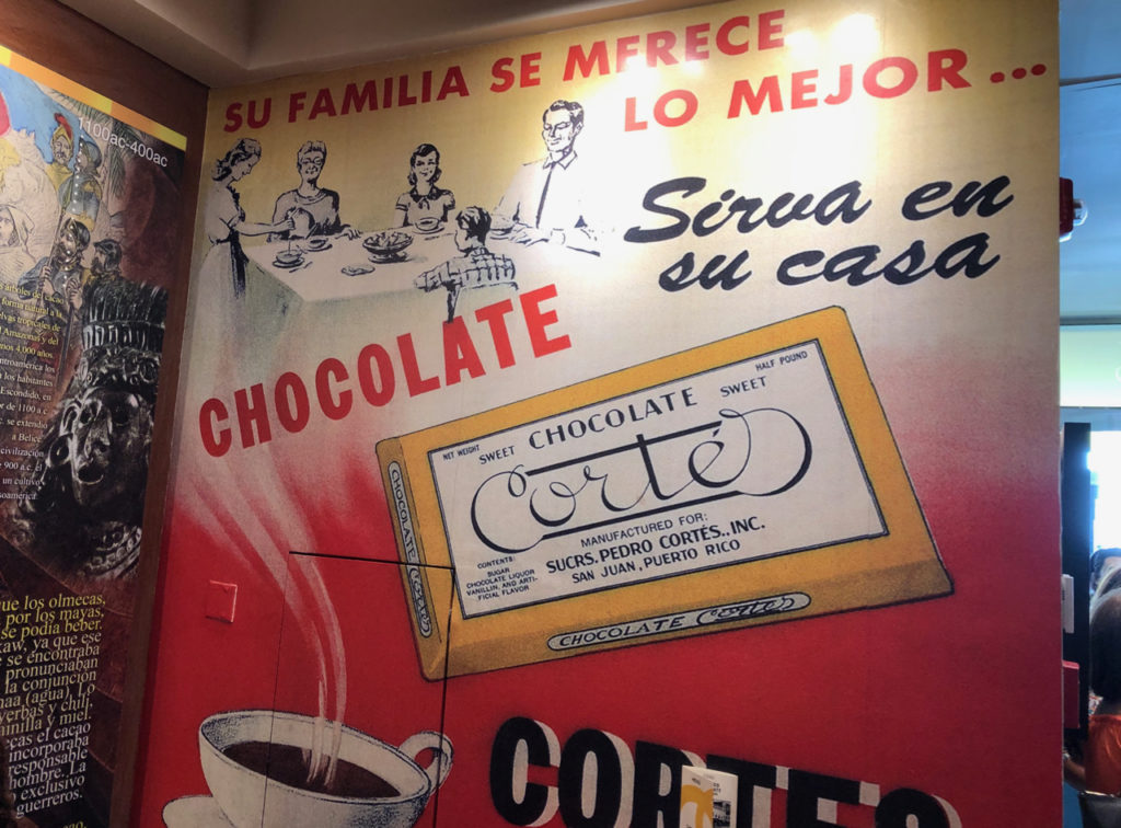 a picture of a mural in the restaurant Chocobar Cortes in Old San Juan, Puerto Rico