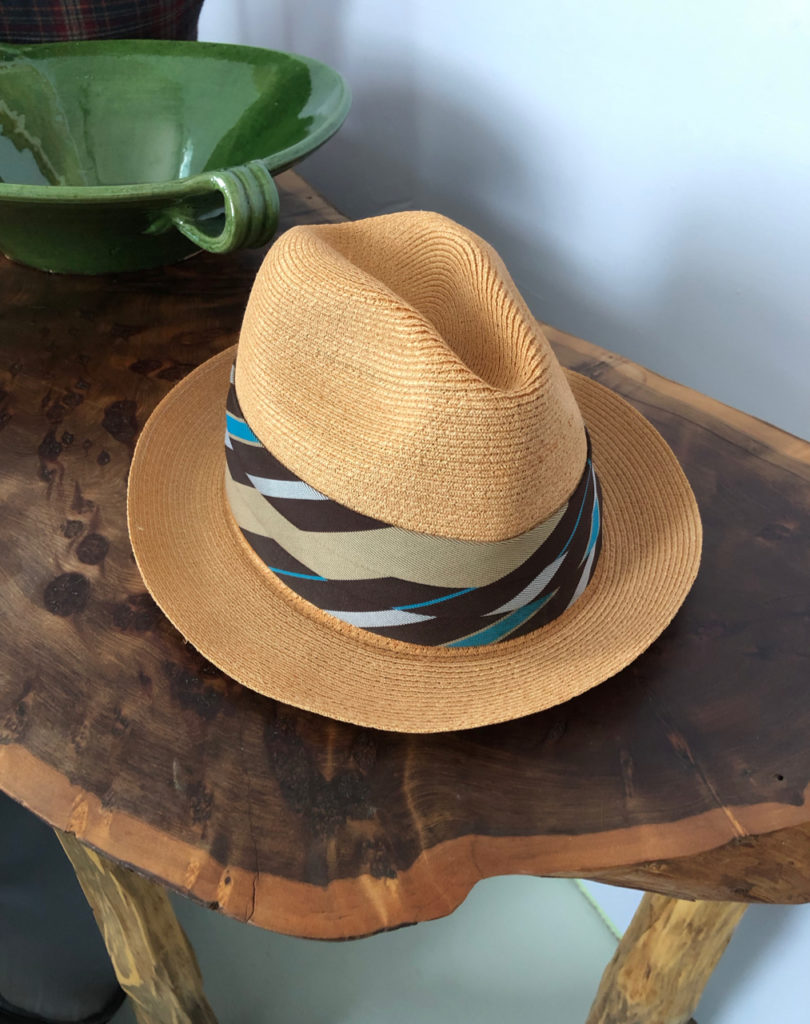 A picture of a Panama Hat on a table