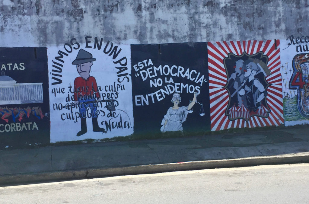 A picture of Graffiti on Calle Norzagaray in Old San Juan